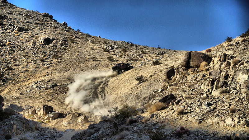 tony pellegrino at the 2013 king of the hammers in johnson valley racing the jeep yj